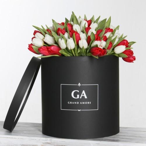 Тюльпаны в коробке Megan