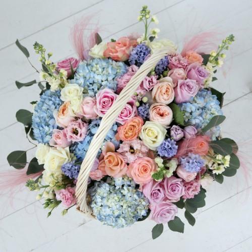Корзина цветов Caramello
