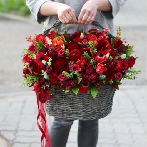 Корзина цветов Virginia