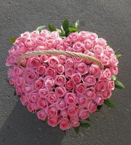 Корзина цветов Pink Heart