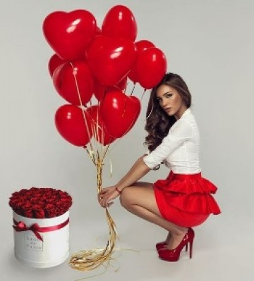 Набор шаров RED Hearts 2